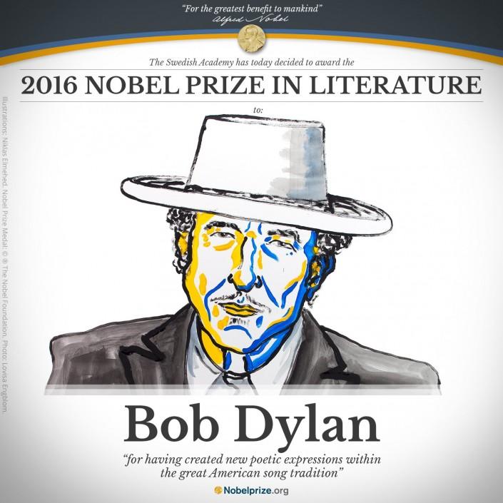 Боб Дилан отозвался— Нобелевская награда