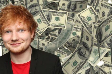 Эд Ширан возглавил список самых высокооплачиваемых британских звезд моложе 30 лет