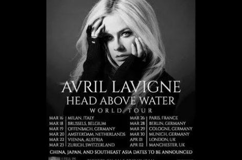 Аврил Лавин повезет свой альбом «Head Above Water» в Европу