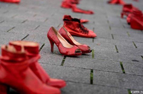В Брюсселе прошел массовый митинг против насилия над женщинами
