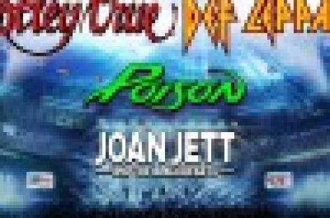 Motley Crue, Def Leppard, Poison и Joan Jett отправятся в масштабный тур по Северной Америке в 2020 году!